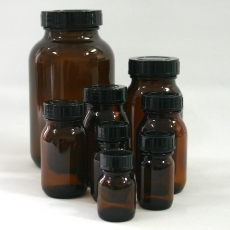 Wide mouth bottles / brown glass