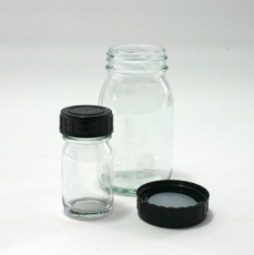 Wide neck bottle / Clear glass